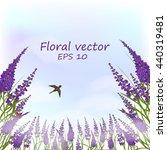 floral illustration . lavender...   Shutterstock .eps vector #440319481