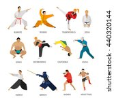 Vector Set Of Martial Arts...