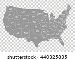 usa map with states | Shutterstock .eps vector #440325835