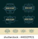 retro geometric badge logo... | Shutterstock .eps vector #440329921