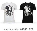 print of cartoon octopus with...   Shutterstock .eps vector #440331121