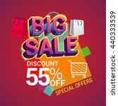 big sale discount 55  off... | Shutterstock .eps vector #440333539