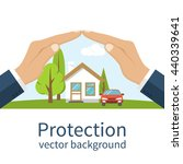 concept security of property.... | Shutterstock .eps vector #440339641