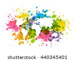 color background with world map ... | Shutterstock .eps vector #440345401