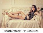 aristocratic young woman girl... | Shutterstock . vector #440350321