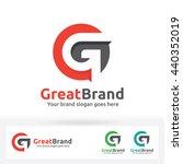 g letter brand logo  g letter... | Shutterstock .eps vector #440352019