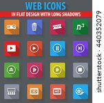 cinema web icons in flat design ... | Shutterstock .eps vector #440352079