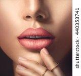 beauty fashion woman sexy lips... | Shutterstock . vector #440353741