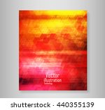 book six coving wave abstract... | Shutterstock .eps vector #440355139
