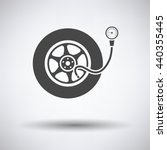 tire pressure gage icon on gray ... | Shutterstock .eps vector #440355445