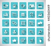 set of seo and development icons | Shutterstock .eps vector #440360449
