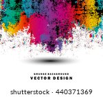 grunge style abstract color... | Shutterstock .eps vector #440371369