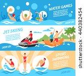 water sport flat horizontal... | Shutterstock .eps vector #440382454