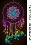 hand drawn native american... | Shutterstock .eps vector #440383759
