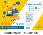 entrepreneur design concepts of ... | Shutterstock .eps vector #440384431