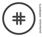 hashtags icon jpg | Shutterstock .eps vector #440384974