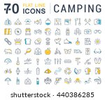 set vector line icons in flat... | Shutterstock .eps vector #440386285