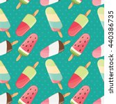 ice cream seamless pattern ... | Shutterstock .eps vector #440386735