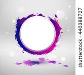 watercolor design  circle... | Shutterstock . vector #440388727