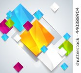 abstract glossy geometric... | Shutterstock . vector #440388904