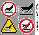 hand hazards sign. danger sign...   Shutterstock .eps vector #440391724