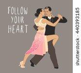 tango. dancing couple. people... | Shutterstock .eps vector #440393185