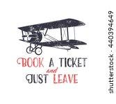 vintage airplane typography...