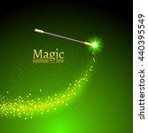 magic wand vector background.... | Shutterstock .eps vector #440395549