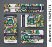 corporate identity vector... | Shutterstock .eps vector #440398171