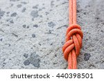 eight rope knot on rocky... | Shutterstock . vector #440398501