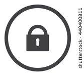 lock pad icon vector