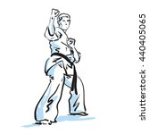 karate fighter  vector... | Shutterstock .eps vector #440405065