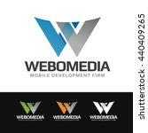 logo of a stylized   w   letter ... | Shutterstock .eps vector #440409265