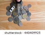 keys from the car on money.... | Shutterstock . vector #440409925