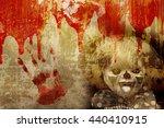 grunge halloween background... | Shutterstock . vector #440410915