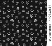 seamless party doodles pattern  ... | Shutterstock .eps vector #440413654