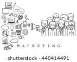 marketing team on white... | Shutterstock .eps vector #440414491