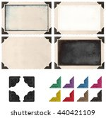 retro photo frame with photo... | Shutterstock . vector #440421109