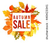 banner with autumn leaves and... | Shutterstock .eps vector #440423341