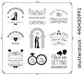 set of wedding invitation... | Shutterstock .eps vector #440430991