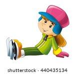 cartoon child   activity   ice... | Shutterstock . vector #440435134
