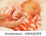 newborn baby pen on her mother... | Shutterstock . vector #440436595
