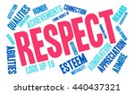 respect word cloud on a white... | Shutterstock .eps vector #440437321