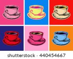 Set Coffee Mug Vector...