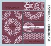 set booklets templates.... | Shutterstock .eps vector #440456029