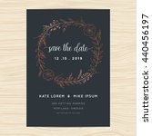 save the date  wedding... | Shutterstock .eps vector #440456197