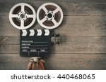 old movie camera  consisting of ... | Shutterstock . vector #440468065
