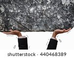 business man hand carrying and... | Shutterstock . vector #440468389
