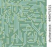 neutral hi tech seamless...   Shutterstock . vector #440471521