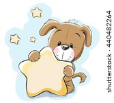 dog with a star on a stars... | Shutterstock . vector #440482264